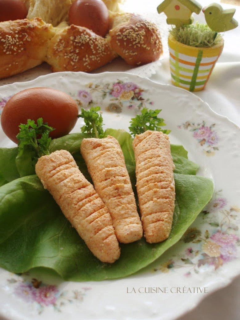 """Велигденски """"моркови"""" - мезе од кашкавал и крем сирење 2"""