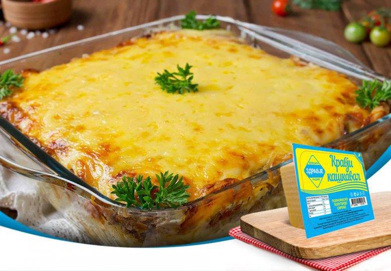 лазања со мелено месо и бел сос