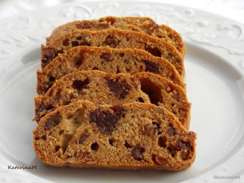 Посен колач со суво овошје 2