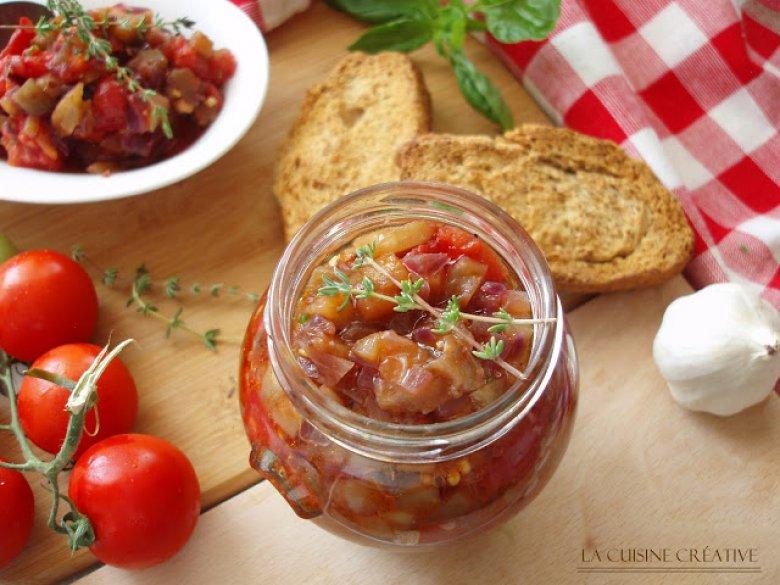 Пикантен сос од домати и модри патлиџани - зимница 2