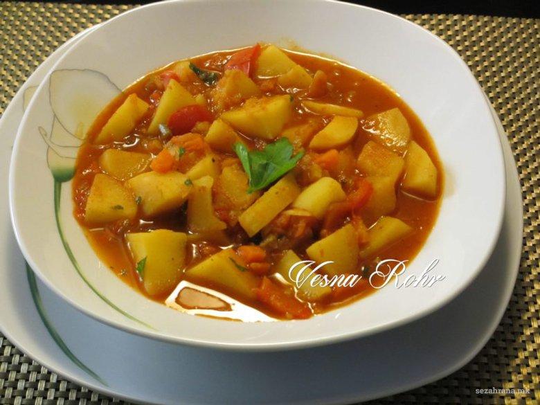 Посна јанија - традиционална чорба од компири 2