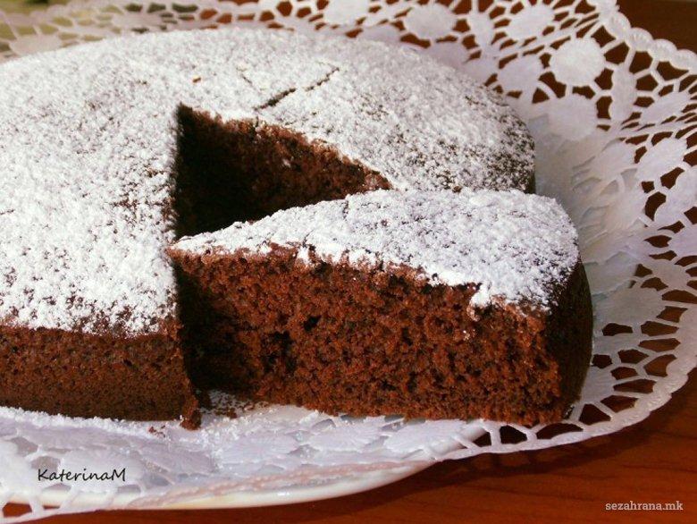 Посна колач торта со какао и кафе 2