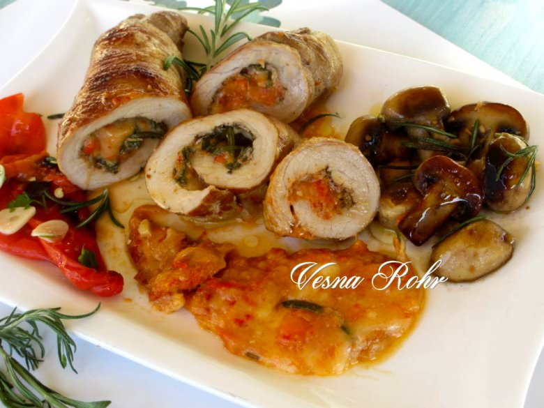 Ролат од свинско филе со зеленчук 2