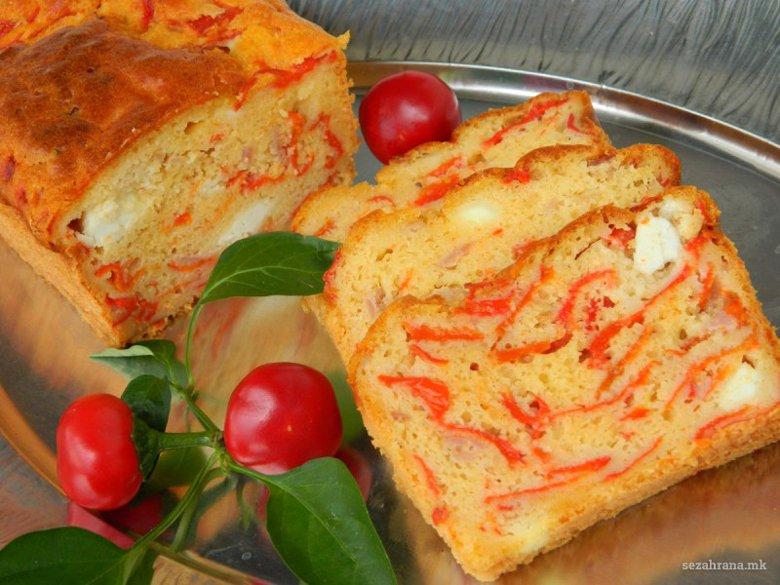 Солена торта со пиперки и сирење 2