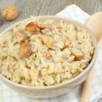 рецепт за рижото со печурки и бело вино
