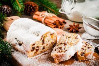 Божиќно лепче со суво овошје и тиква