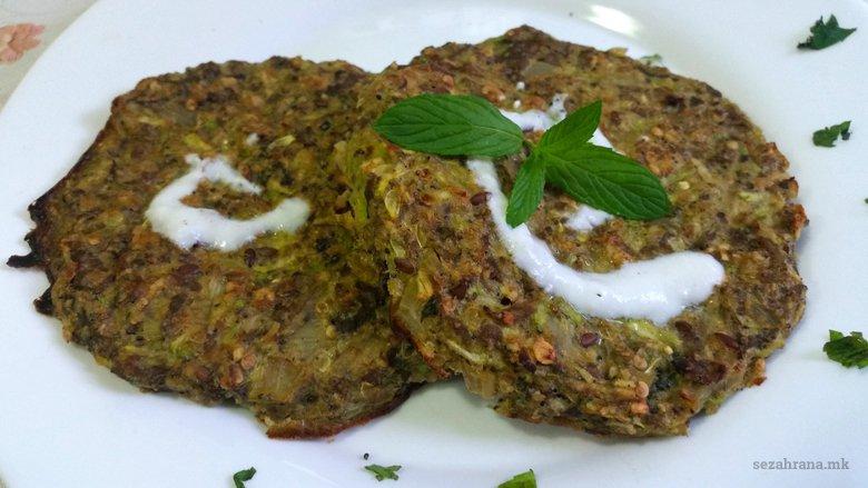 Печени вегетаријански плескавици - со семиња и без глутен 2