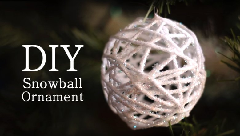 Направете снежни топки од конец за плетење 2