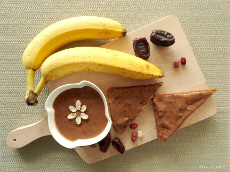 Посен чоколаден намаз со путер од кикиритки за 5 минути 2