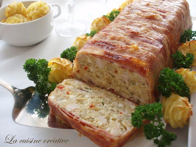 Пилешки терин - свечен ролат од сечкани состојки 2