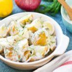 Прилог од запечени компири со домашен тартар прелив 1