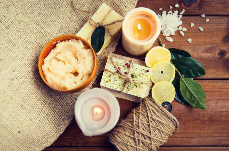 Природен пилинг за тело со мирис на лимон