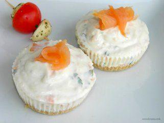 Солени чизкејк мафини со лосос 1