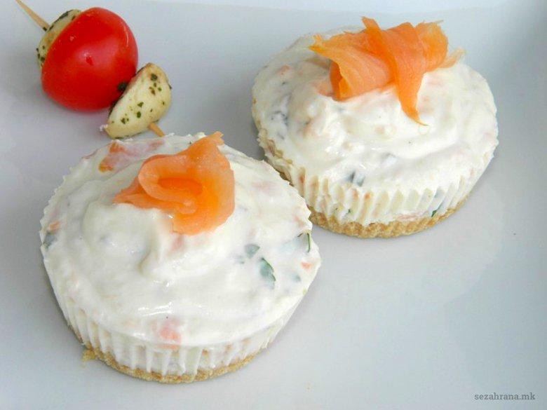 Солени чизкејк мафини со лосос 2