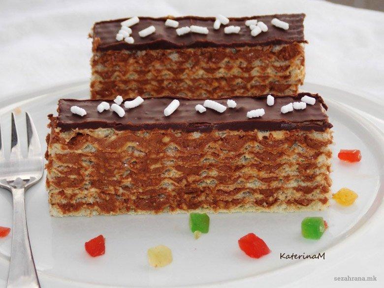 Торта со обланди и кикирики