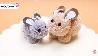 украсни велигденски зајачиња од конец за плетење 1