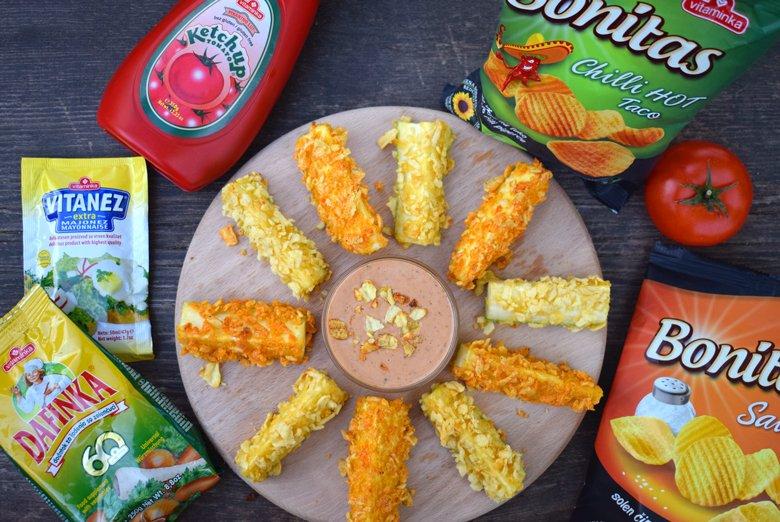 Крцкави печени тиквички со сос од кечап и мајонез 4