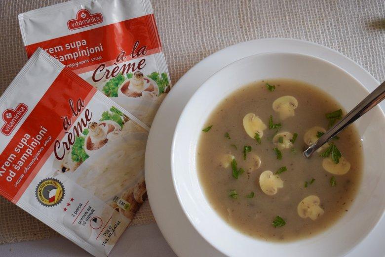 брза крем супа од печурки витаминка