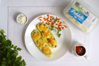 Лесен рецепт за печени тиквички со деликатесен фил за 15 минути 1