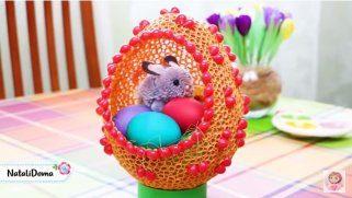 Велигденска кошничка од макарони 1