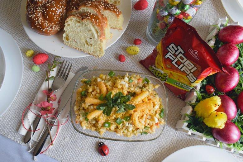 Велигденска крем салата со Стоби флипс 2