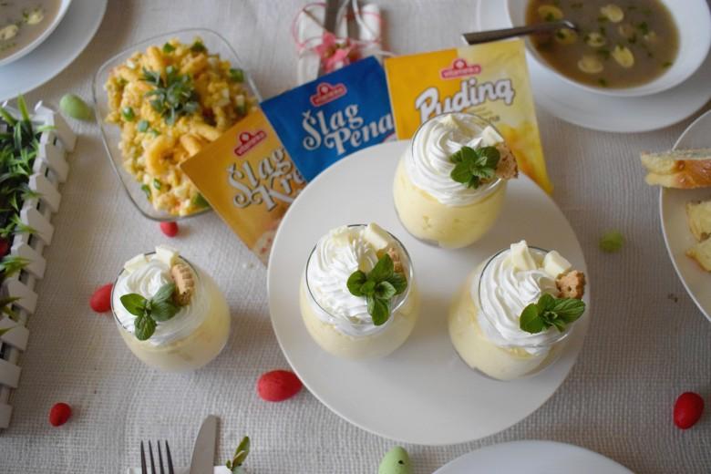 Брз велигденски десерт во чаша со пудинг од ванила
