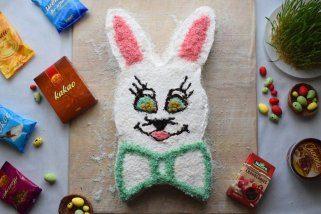 "Велигденска ""Зајко"" торта без печење со кори од Винчини"