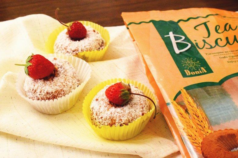 Брзи чајни колачи со чоколаден фил 2