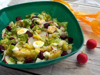 Лесна компир салата со зеленчук и јајца 1