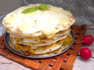 Отворена лазања од тортиљи 1