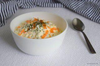 крем салата со јајца и сирење