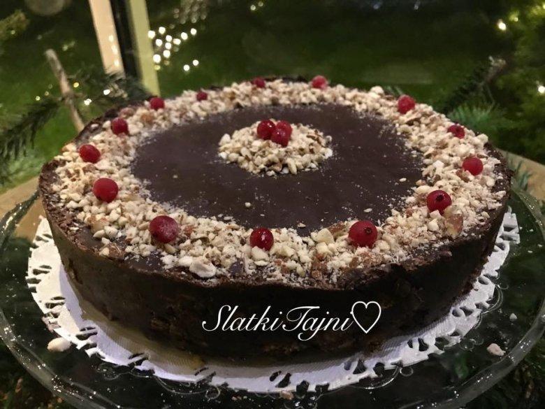 Чоколадна непечена посна торта 2