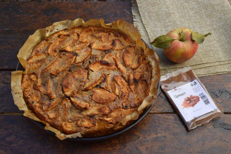 Есенска пита со јаболка и цимет - брза и без миксер 6