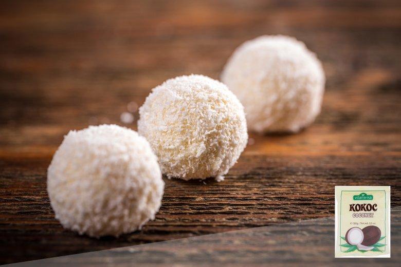 посни бомбици со кокос