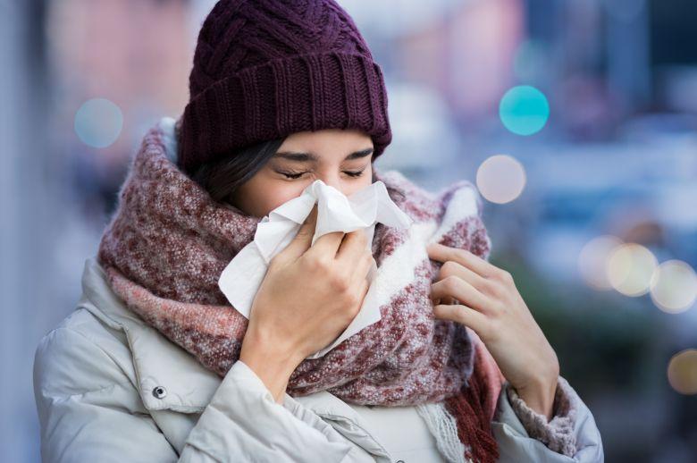 затнат нос во зима