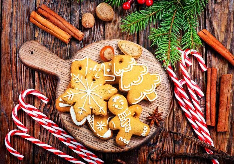 божиќни колачи со ванила
