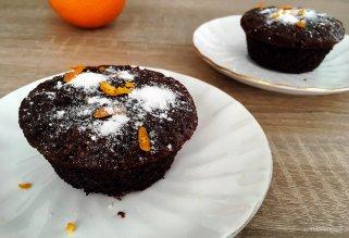 посни чоколадни мафини со портокал
