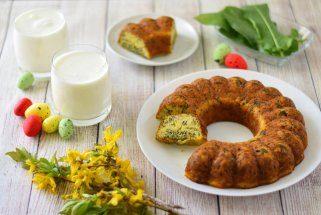 Солен куглоф со зелје и семиња 1