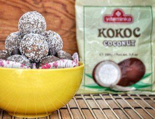 чоколадни бомбици со кокос