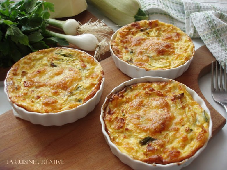 Гратинирани тиквички со сирење 2