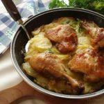 Печено пилешко месо со компири
