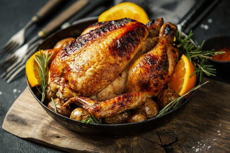 Печено пиле со зачини 2