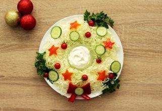 Божиќен венец - салата
