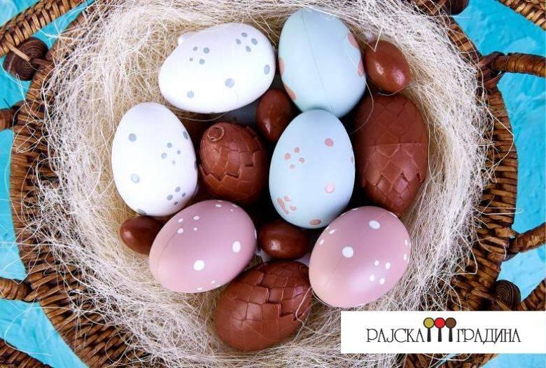 чоколадни јајца со путер од кикирики