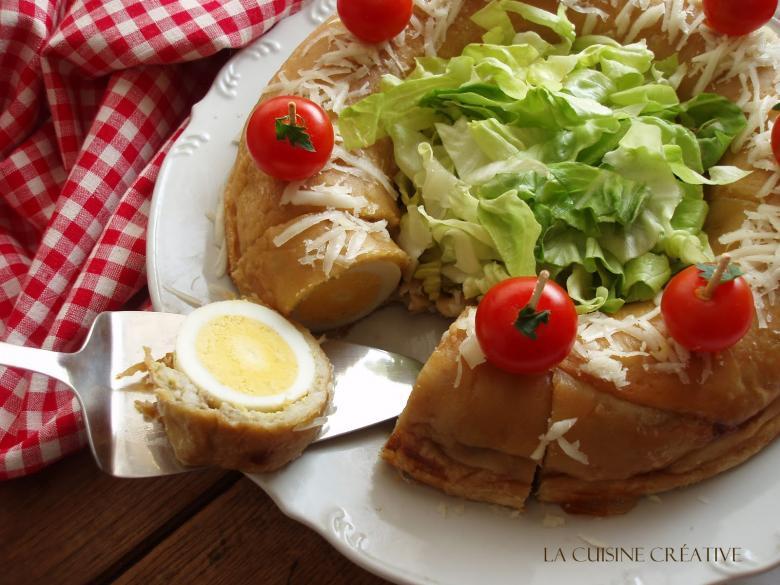 солен венец со варени јајца