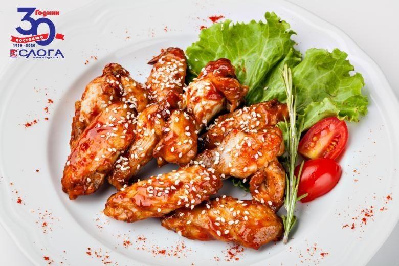 печени пилешки крилца