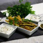 Печен помфрит од компири и тиквички