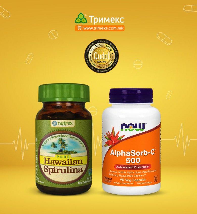 витамин ц и спирулина за побрз раст на косата 3