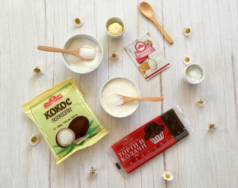 Чоколадирани колачи со кокос