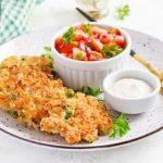 ќофтиња од пилешко месо и грашок
